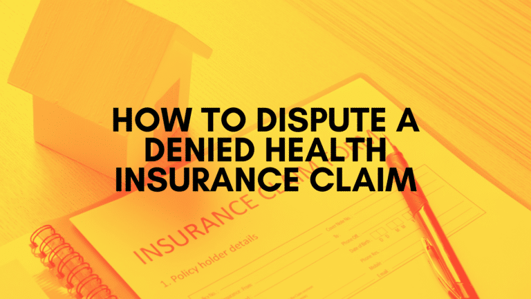 Insurance form with blog title on it