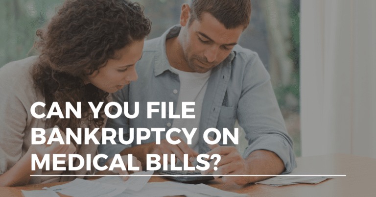 can you file bankruptcy on medical bills